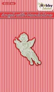 HSDJ011 Hobby Solutions Die Cut Angel with Mandoline