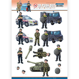 SB10552 3D Push Out - Yvonne Creations - Big Guys Professions - Police