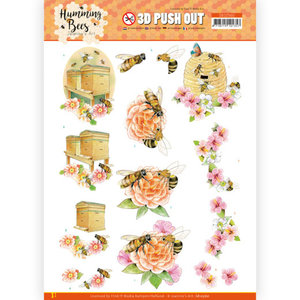 SB10560 3D Push Out - Jeanine's Art - Humming Bees - Beehive