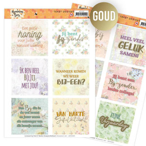 JATD1005 Tekst Designs - Jeanine's Art - Humming Bees (NL)