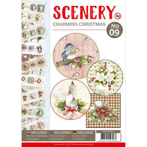 Push Out book Scenery 9 - Charming Christmas