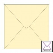 1000 stuks vierkante enveloppen 14 x14 creme 120 grams