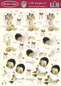 3D Knipvel 2682 Mariekes Design A4 Baby