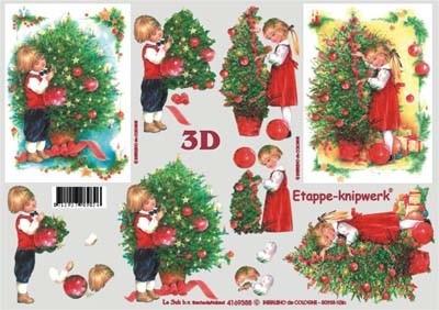 3D knipvel Le Suh 4169.388 Kerstboom Nostalgisch A4