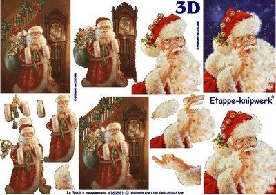3D knipvel Le Suh 4169.581 Kerstman Nostalgisch A4