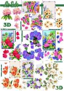 3D knipvel Le Suh 4169.683 Bloemen A4