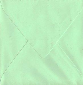 Enveloppen vierkant 14x14 10 stuks Mint (120gr.)