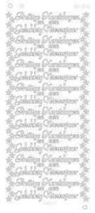 Stickervel 3016 Cd Prettige Kerstdagen Gelukkig Nieuwjaar Platinum