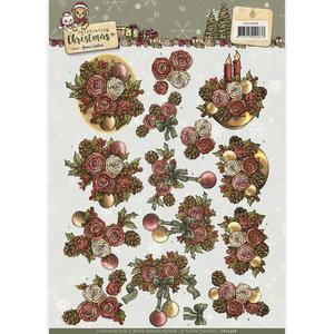 CD10958 - 3D Knipvel - Yvonne Creations - Celebrating Christmas- Flowers Yvonne Creations