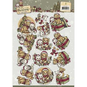 CD10956 - 3D Knipvel - Yvonne Creations - Celebrating Christmas- Animals Yvonne Creations