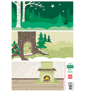 AK0068 - Knipvel - Marianne Design - Eline's Christmas backgrounds