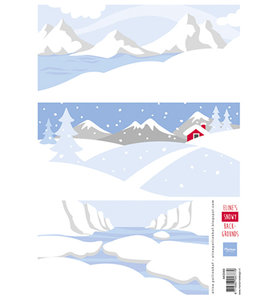 AK0069 - Knipvel - Marianne Design - Eline's Snowy backgrounds