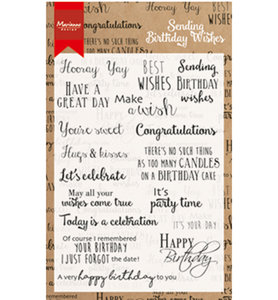 CS0996 - Marianne Design - Clear Stamp - Birthday Wishes