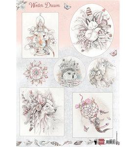 EWK1252 - 3D Knipvel - Marianne Design - Winter Dream pink