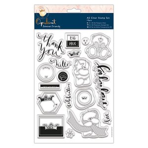 FFS907136 Papermania - Forever Friends - Clear Stamp Set A5 - 19 pcs - Opulent