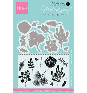 KJ1715 – Marianne Design – Clear stamp – Giftwrapping: Twigs & twine