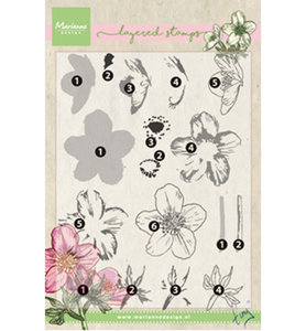 TC0861 – Marianne Design – Clear stamp Tiny's helleborus (layering)