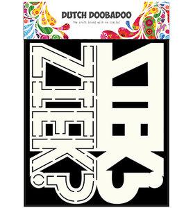 470.713.641 Dutch DooBaDoo - Card Art - Text Ziek - A5
