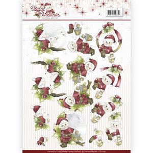 CD10943 – 3D Knipvel - Precious Marieke - Joyful Christmas - Christmas rose