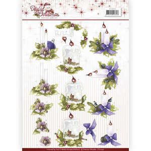 CD10941 – 3D Knipvel - Precious Marieke - Joyful Christmas - Christmas candles
