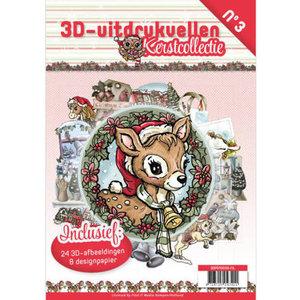 3D uitdrukvellen boek 3 Kerstcollectie