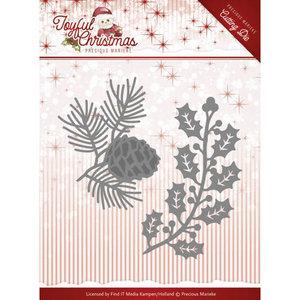 PM10106 – Die – Precious Marieke - Joyful Christmas - Christmas foliage