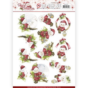 SB10207 – Pushout - Precious Marieke - Joyful Christmas – Santa on branch