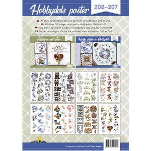 Hobbydols 206 en 207 - Knipvellenposter