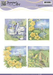 CD10888 - 3D knipvel - Jeanine's - Landscapes toppers