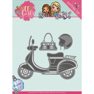 YCD10120 Die - Yvonne Creations - Sweet Girls – Scooter