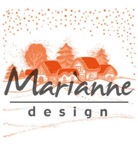 DF3442 Marianne Design – Design Folder – Wintervillage