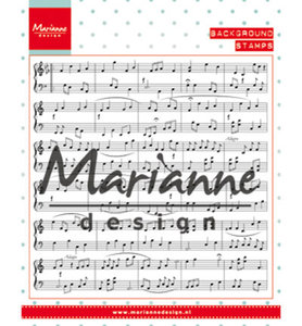 CS0997 Marianne Design – Clear stamp Background: music notes