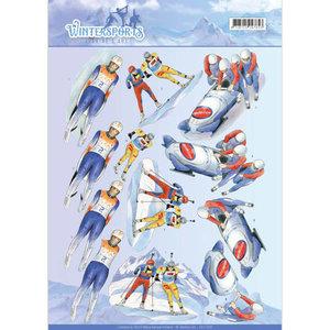 CD11028 - 3D Knipvel - Jeanine's Art - Wintersports - Biathlon