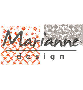 DF3444 - Marianne Design - Design Folder - Anja's Flower Border  - Folder + Die - 141x141mm