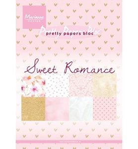 PK9153 - Marianne Design - Pretty Papers - Sweet Romance - A5 - 4x8 designs