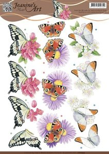 CD10933 - 3D knipvel Jeanine's Art - Butterflies