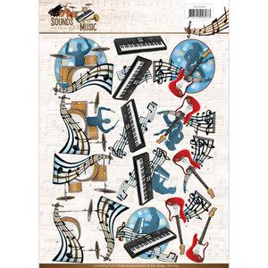 CD11064 - 3D Knipvel - Amy Design - Sounds of Music - Pop