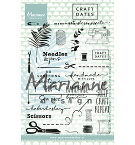 EC0167 - Marianne Design - Clear Stamps -  Craftdates 2