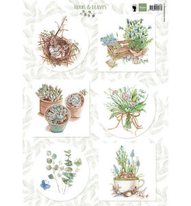 EWK1254 - Marianne Design - Knipvel - Els Herbs and leaves 1