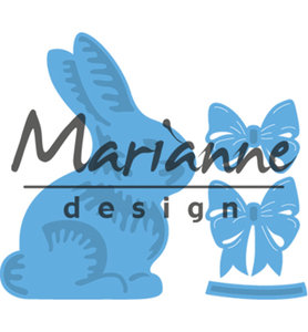 LR0519 - Marianne Design - Creatables - Easter Bunny with Bow - 48x65mm