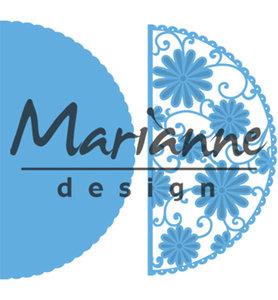 LR0517 - Marianne Design - Creatables - Anja's Flower Demi Circle - 68x135mm