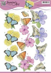 CD10932 - Knipvel - Jeanines Art - Butterflies