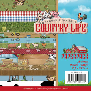 YCPP10016 - Paperpack - Yvonne Creations - Country Life Country Life Frame