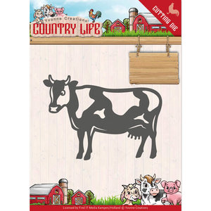 YCD10128 - Dies - Yvonne Creations - Country Life Cow