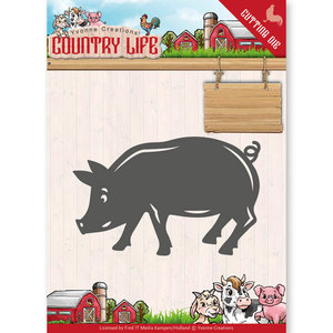 YCD10130 - Dies - Yvonne Creations - Country Life Pig