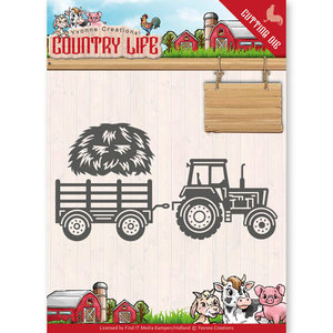 YCD10124 - Dies - Yvonne Creations - Country Life Tractor