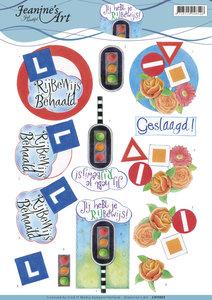 CD11053 - 3D Knipvel - Jeanine's Art - Drivers License
