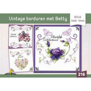 Hobbydols 216 Vintage borduren met Betty - Betty de Groote