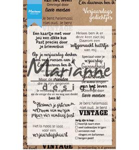 CS1006 - Marianne Design - Clearstamp - Verjaardagsgedichtjes