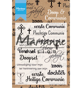 CS1005 - Marianne Design - Clearstamp - Doop en communie